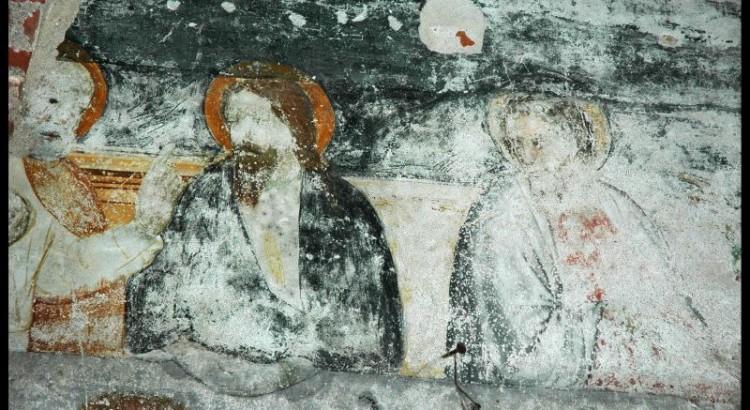 Staffarda, refettorio, Ultima cena, parte centrale rid