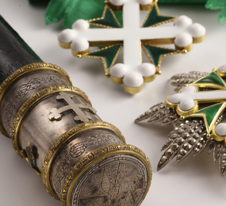 Scettro e decorazione Gran Croce Ordine Santissimi Santi Maurizio e Lazzaro - Re Umberto II